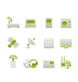 technology and communications icons vector image