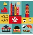 Symbols of Hongkong vector image