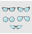 Glasses set Eyeglasses collection Isolated Icons vector image