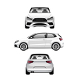 White Sports Hatchback vector image vector image