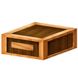 A wooden box vector image