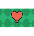 balloon heart with green diamond-shaped vector image