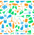 cleaning icons color seamless pattern eps10 vector image