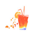 colorful cocktail alcohol mixed drink or lemonade vector image