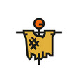 scarecrow icon on white background vector image
