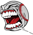 Screaming baseball vector image