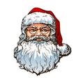 Christmas Portrait Santa Claus vector image vector image