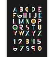 alphabetic font vector image