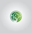nature home symbol logo vector image