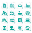 stylized real estate objects and icons vector image vector image