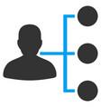 distributor flat icon vector image