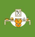 Cute foody cat vector image