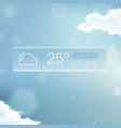 Weather Widget Notification vector image vector image