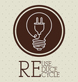 Recycle design vector image