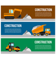 construction machine web banner concept vector image