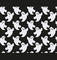 ghost seamless pattern scary spirit repeating vector image