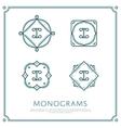 Letter I Monogram vector image