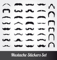 Set of moustache vector image