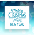 slogan poster xmas merry blue vector image