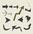 Various arrows vector image
