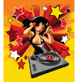 Dj party girl vector image vector image