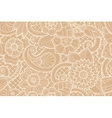 Seamless ornamental pattern with stylized with vector image