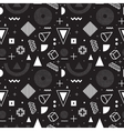Memphis style seamless pattern vector image