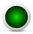 green glossy icon vector image vector image