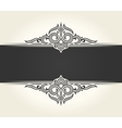 Banner islam ethnic design White Invitation vector image vector image