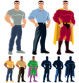 Superhero Transformation vector image vector image