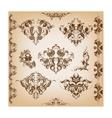 Set of vintage pattern vector image