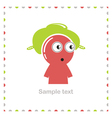 Funny character isolated on white vector image vector image