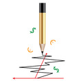 pencil and a graph vector image