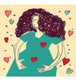 Young happy pregnancy woman color vector image