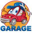 car garage symbol cartoon vector image