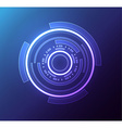 futuristic glowing hud element eps 10 vector image