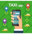 Public taxi online service mobile application vector image