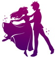 romantic dance vector image