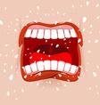 Shout aggressive face Man Yells Violent emotion vector image