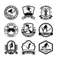 Ski Jumping Badges vector image