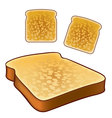 Toast icons top and isometric views vector image
