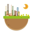 urban city with sunny day vector image