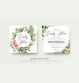 wedding art trendy floral invitation card design vector image