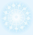 Beautiful winter background with a snowflake vector image