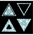 Diamond shapes set on black background vector image