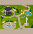 park landscape isometric design composition vector image