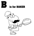 Cartoon baker with letter vector image vector image