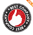 Stamp sticker best company collection - - E vector image