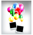 balloons decoration for you design with film frame vector image