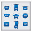 new labels blue vector image vector image